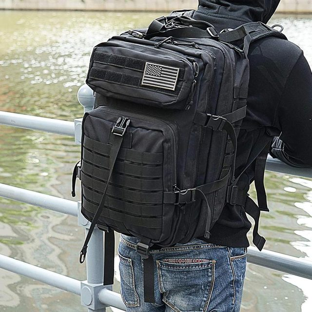 50L Large Capacity Men Army Military Tactical Backpack 3P Softback Outdoor Waterproof Bug Rucksack Hiking Camping Hunting Bags 6