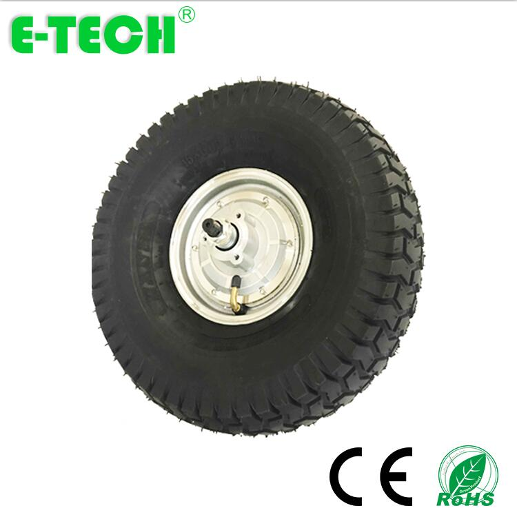 CE approved 15 inch 500W 800W DC brushless gearless golf cart hub motor wheel
