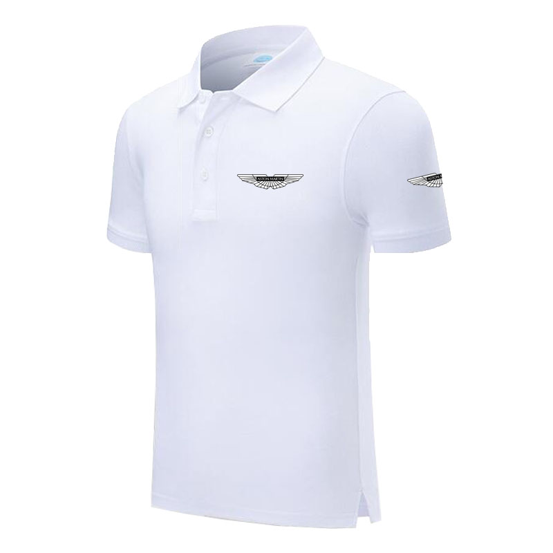 Top quality Summer New Men's short sleeve   polos   shirts solid color mens Aston Martin   polos   shirts male tops