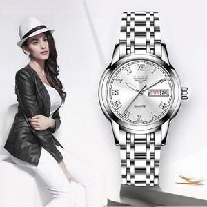 Image 5 - LIGE moda İzle kadınlar kuvars kadın saatler lüks üst marka tarihi hafta paslanmaz çelik kadın elbisesi saat relogio feminino