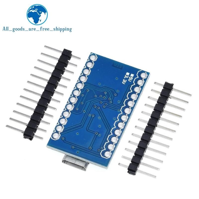 Tzt Pro Micro ATmega32U4 5V 16Mhz Vervangen ATmega328 Voor Arduino Pro Mini Met 2 Rij Pin Header Voor leonardo Mini Usb Interface 2