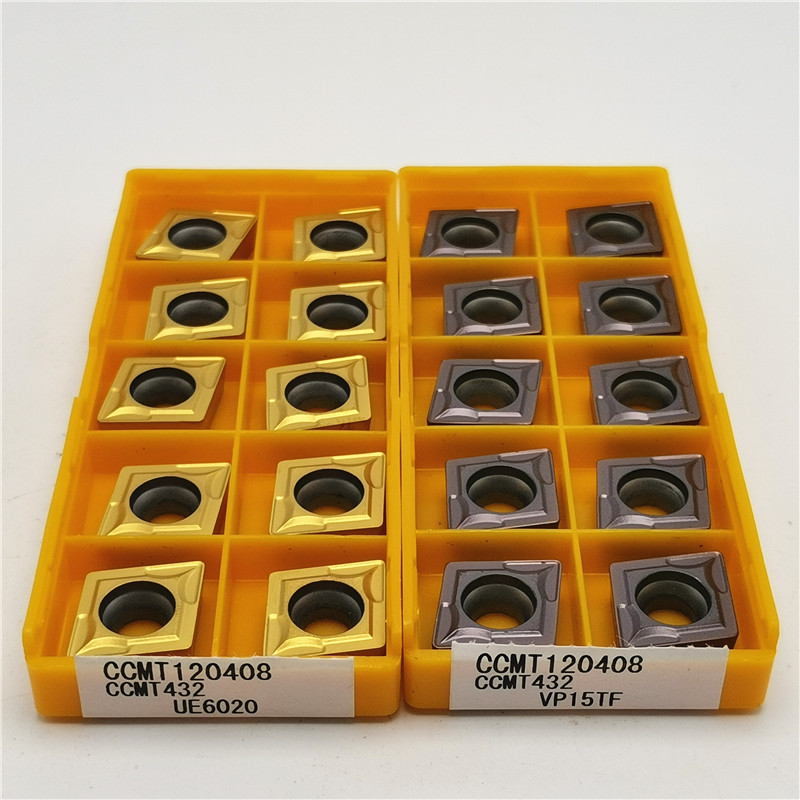 10PCS CCMT120404 CCMT120408 UE6020 US735 VP15TF CNC Stainless Steel Cutting Tools Tungsten Carbide Inserts Metal Lathe Tools