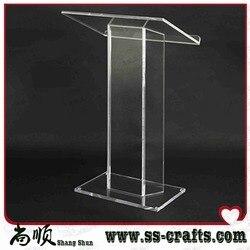 Gorąca sprzedaż logo na zamówienie projekt akrylowy pulpit; stół akrylowy top mównica pleksi w Meble kinowe od Meble na
