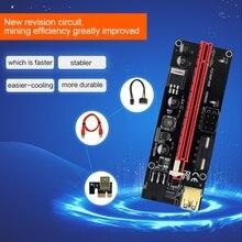 جديد TISHRIC PCI E الناهض 009s بطاقة USB 3.0 SATA إلى 6Pin موليكس كابل محول PCIE PCI E موسع التعدين الناهض لبطاقة الفيديو