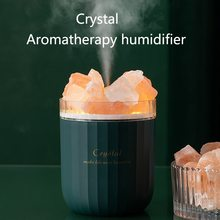 Humidifier with Atmosphere-Lamp Home Essential-Oil-Diffuser Crystal Aroma USB Portable