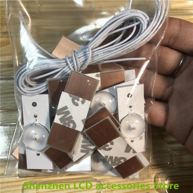 40 pezzi/lotto Universale 3V HA CONDOTTO Perline Lampada con Lente Filtro Ottico per la TV di Riparazione New100 %