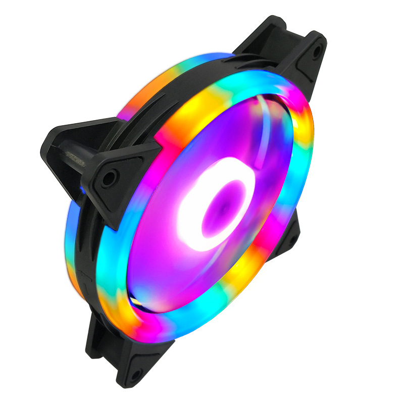 Case Fan  120mm 3pin Colorful Blue Red White Green  Bearing LED Computer Cooling Fan Radiator Ventilador 1
