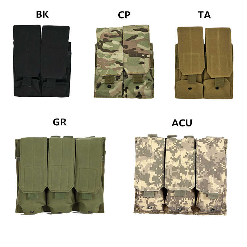 Tactische Molle Magazine Bag Airsoft Paintball 5.56Mm 223cal. Geweer Pistool Ammo Mag Bag Jacht Accessoires Voor Ak M4 AR-15