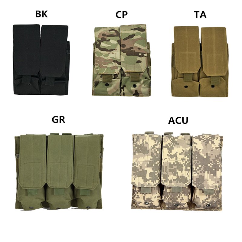 Tactical Molle Magazine Pouch Bag Airsoft Paintball 5.56mm 223cal. Rifle Pistol Ammo Mag Bag Hunting Accessories for AK M4 AR-15 image