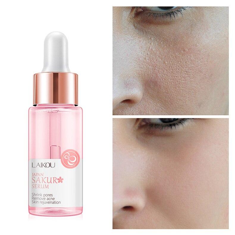 Hydrating Essence Sakura Oil Essence Acne Reducing Shrink Pores Anti-aging Cream Cure Face Serum Skin Care Women Men TSLM1