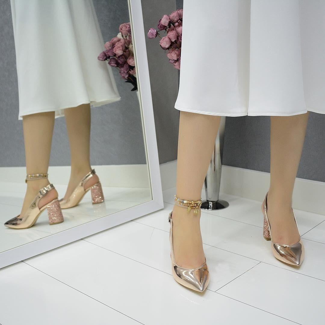 Mst-028 Rose miroir femmes talons hauts marque femmes pompes chaussures bout pointu boucle sangle été sexy fête