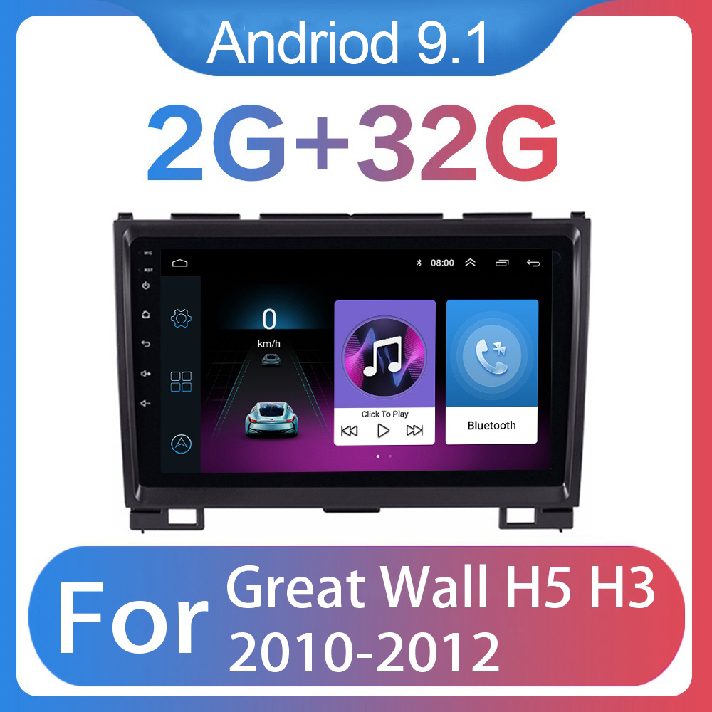<font><b>2din</b></font> Android 9.1 <font><b>Car</b></font> <font><b>Radio</b></font> Multimedia Video Player GPS for Great Wall Hover H5 H3 9 inch <font><b>Autoradio</b></font> navigation BT WIFI 2G+32G image
