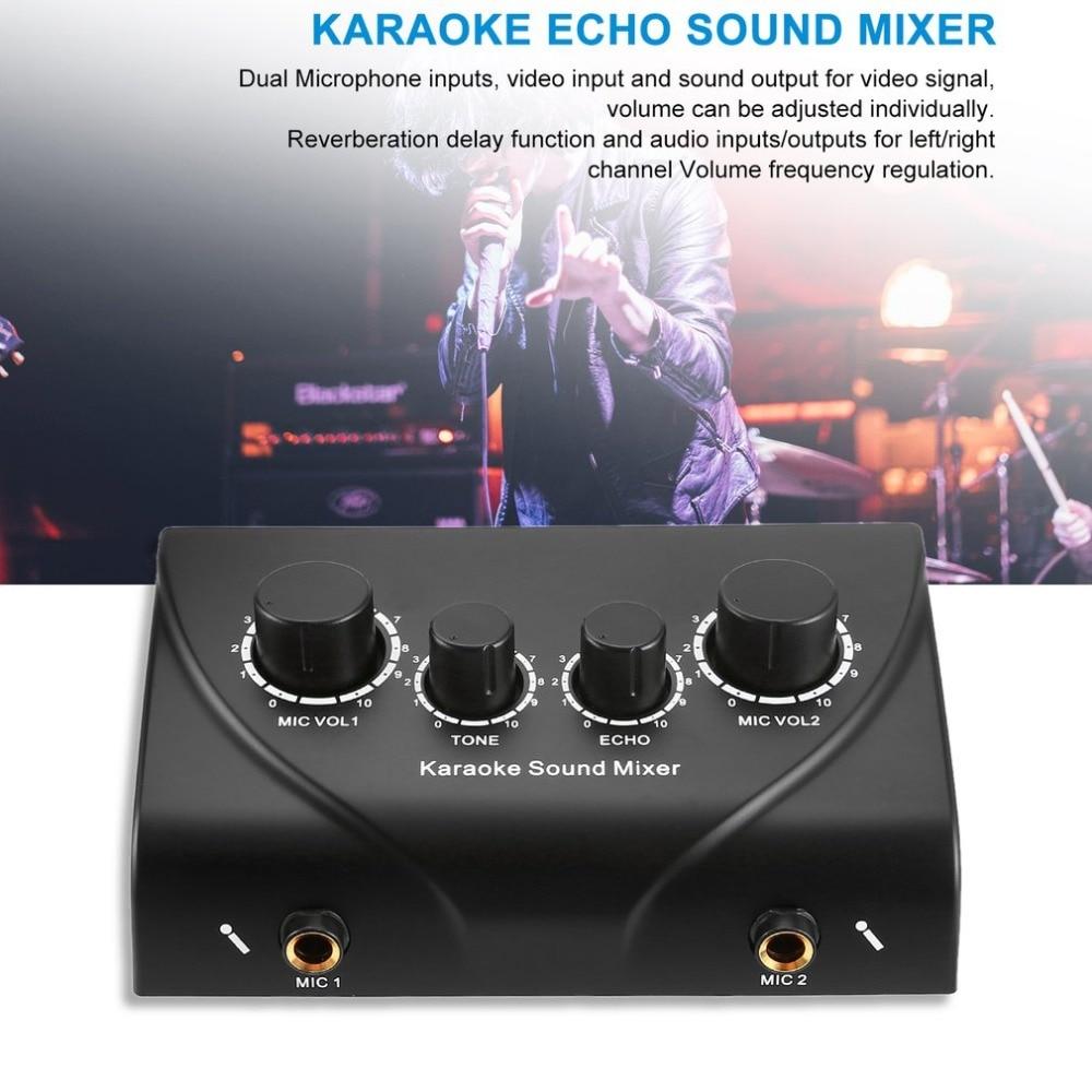 Karaoke mikser dźwięku profesjonalny System Audio przenośny Mini cyfrowy Audio dźwięk sprzęt do Karaoke Echo mikser systemu