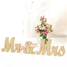 3 PCS New Arrival Wedding Decorations Marriage Decor Mr & Mrs Birthday Party Valentine's Day Decorations Letters Wedding Sign(China)