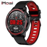 L8 ppg + ecg completa round display relógio inteligente homem ip68 à prova dip68 água smartwatch pressão arterial freqüência cardíaca esportes relógios de fitness