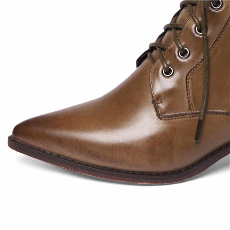 ASUMER/2020 г., Новое поступление, женские ботильоны с острым носком, на молнии, на шнуровке, винтажные модельные офисные туфли женские ботинки из натуральной кожи