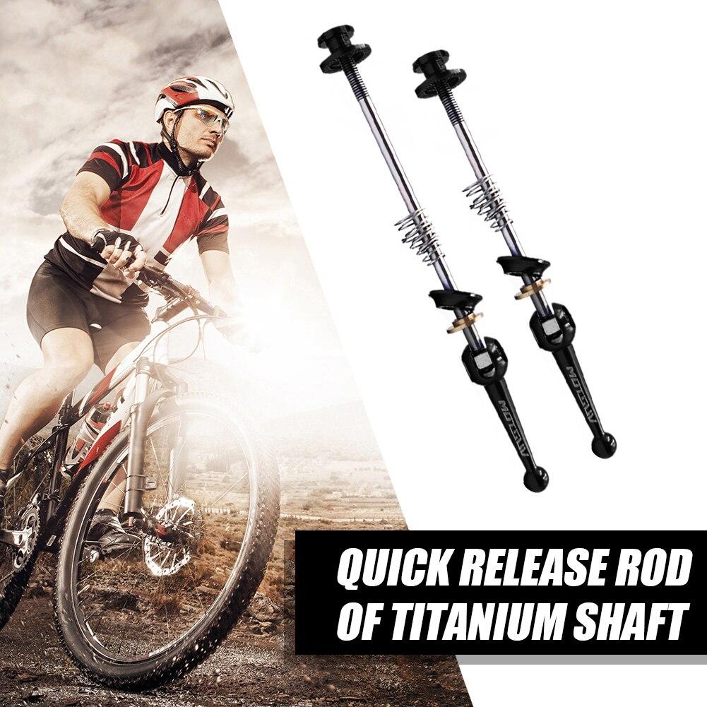 Bicicleta de liberação rápida espetos frente + roda traseira bicicleta leve ti liga titânio portátil dustproof ciclismo peças