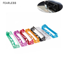 Car modification universal accessories license plate frame pattern adjustable aluminum alloy f