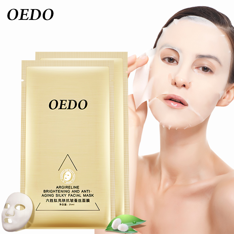 OEDO Argireline Brightening And Anti-aging Silky Facial Mask 2pcs/lot Whitening Ageless Shrink Pore Anti Aging Wrinkle Skin Care