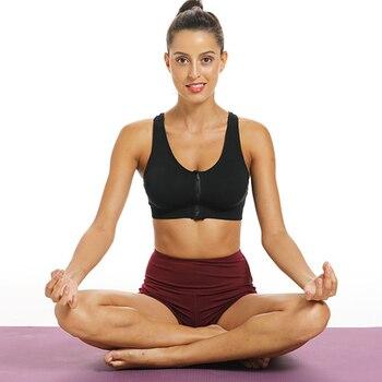 Women Sports Bra Front zip Comfortable Running Bras Gym Breathable Ladies Fitness Yoga Sport