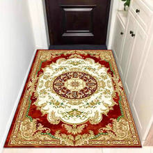 European pattern doormat for living room water absorption coral