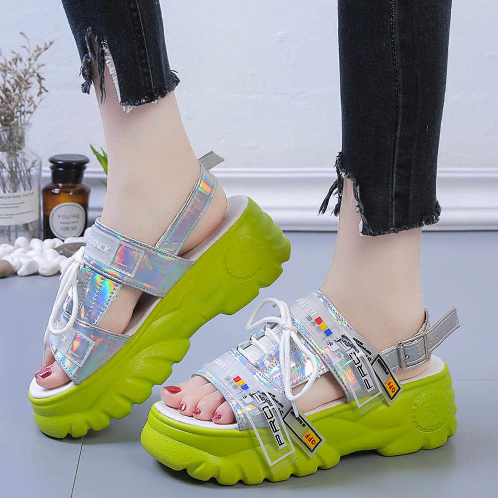 DORATASIA 35-41 yepyeni bayanlar Ins sıcak takozlar topuklu sandalet 2020 rahat rahat sandalet kadın moda yaz ayakkabı kadın
