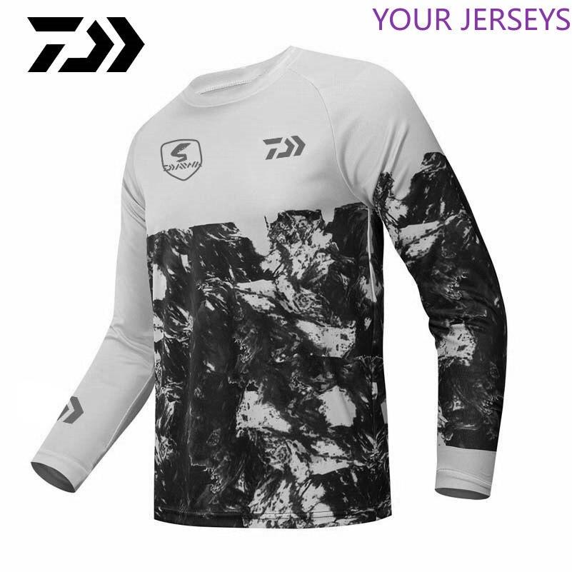 Daiwa Fishing Clothes Jersey Motorcycle Moto Long Sleeve T Shirt Off-road Jersey 100% Polyester Fishing Shirt Anti-uv DAIWA