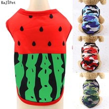 Watermelon Dog Vest Breathable Mesh Clothing For Dogs Spring Summer Camouflage Cheap Pet Clothes For Dogs French Bulldog T Shirt
