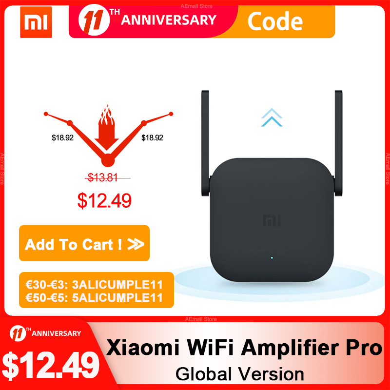 Original Xiaomi WiFi Amplifier Pro 300Mbps WiFi Repeater Mijia Wifi Signal 2.4G Extender Roteador 2 Mi Wireless Router mi router|mi router|router miwireless router - AliExpress