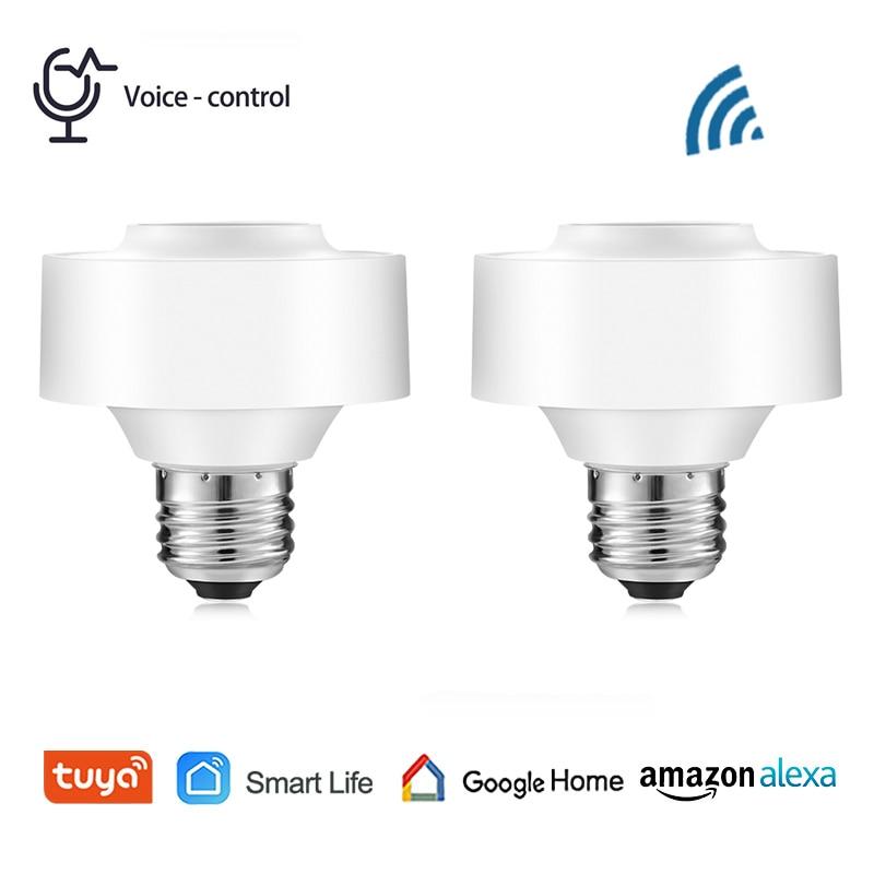 Умный держатель для лампы Tuya Smart Life с Wi-Fi и голосовым управлением, светодиодный светильник с таймером и дистанционным управлением, подходит ...