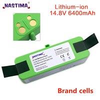 NASTIMA 14.8v 6400mAh/4400mAh Batteria Al Litio Ricaricabile Per iRobot Roomba Serie 500 600 700 800 560 620 650 700 770 780 880