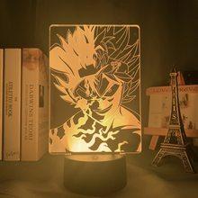 3d lâmpada anime preto trevo asta luz para crianças decoração do quarto luz da noite presente de aniversário mangá gadget trevo preto asta lâmpada
