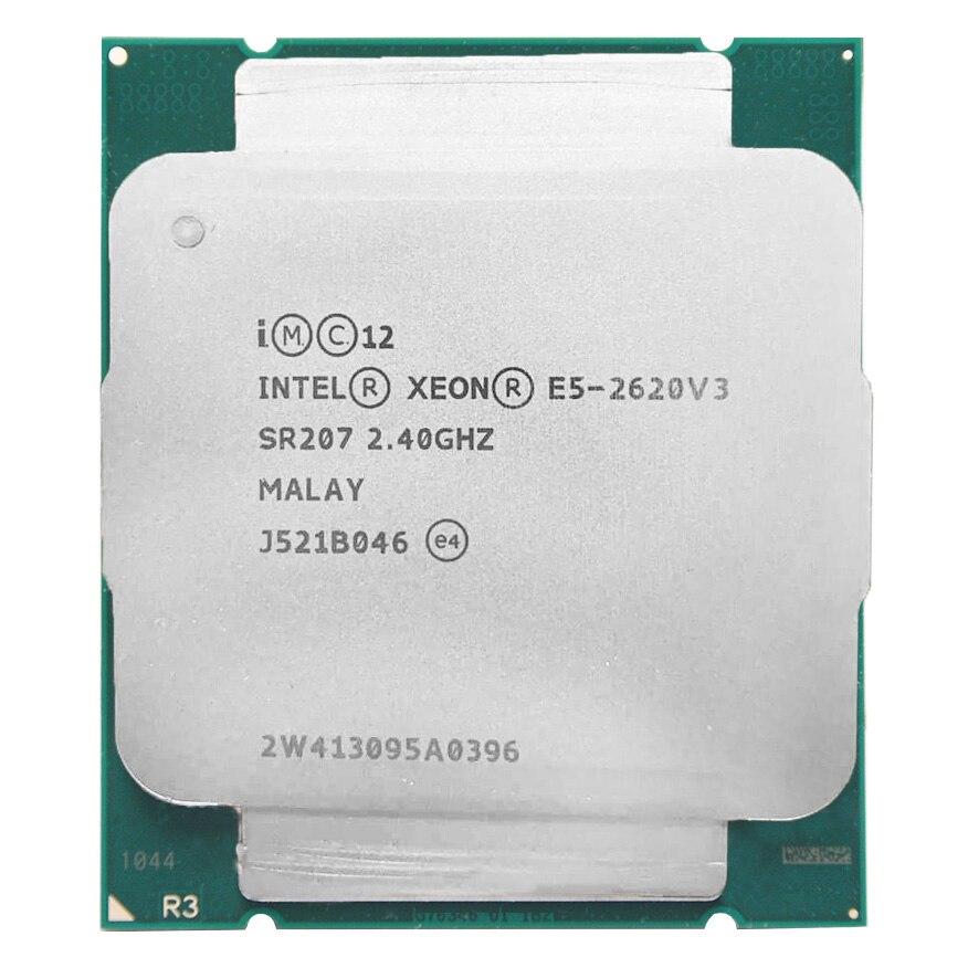 Intel Ксеон E5 2620 V3 E5 2620V3 E5-2620V3 процессор 2,4 ГГц 6 Core 85 Вт Разъем LGA 2011-3 Процессор подходит X99 материнская плата