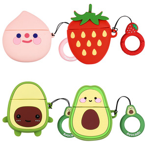 Image 5 - Earphone Case For Airpods 2 Case Silicone Cute Avocado Fruit Strawberry Cover For Apple Air pods 2 Accessories Earbud Case