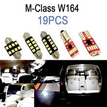 מושלם לבן LED הנורה פנים קריאת מפת כיפת אור ערכת עבור מרצדס בנץ M ML GL GLK GLA W163 W164 w166 X164 X166 X156 X204