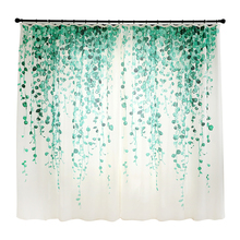 1pc Nordic freshstyle Blackout Curtains Bedroom Living room creative Bay Window Green Plant Printed ins
