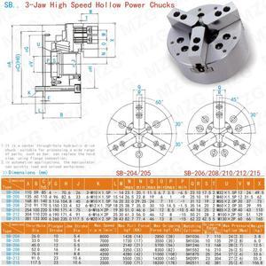 Image 5 - Mzg SB 210 6 8 10 polegada 3 mandíbula oco power chuck para torno cnc ferramenta de corte chato titular buraco usinagem