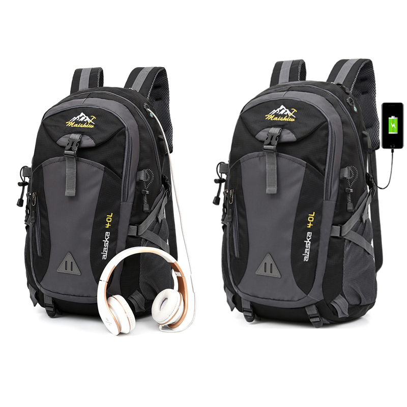 40L Waterproof Men's Bag For Male Backpack Travel Sport Bag Pack Outdoor Unisex Mountaineering Hiking Climbing Camping Bagpacks