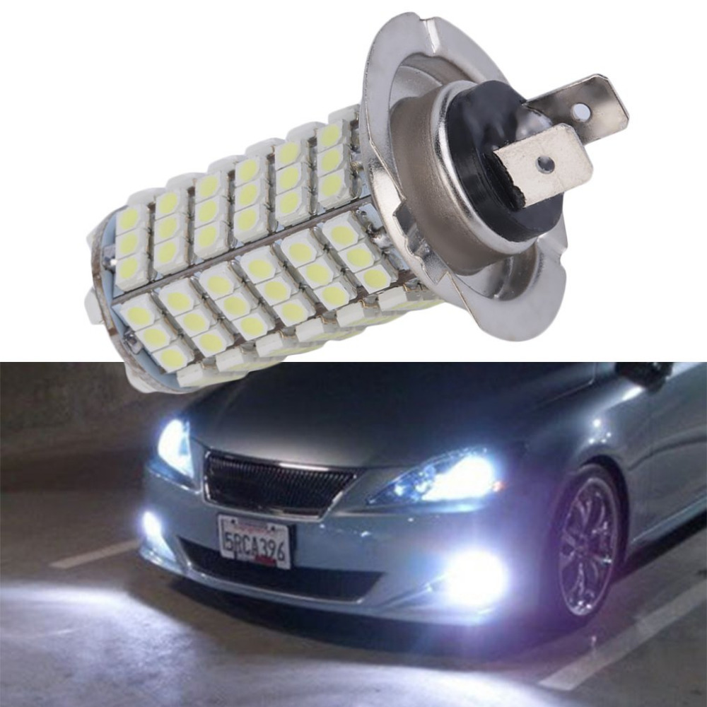 New 1PCS Automotive Ultra Bright Auto H7 120SMD 1210 Fog Light Lamp Auto Car Driving Light DC 12V  Led Fog Light