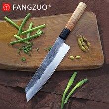 Ręcznie kute nóż szefa kuchni 8 cal japoński Kiritsuke kształt o wysokiej zawartości węgla 8Cr14CoMov 3 warstwy kompozytowe stali nierdzewnej profesjonalny nóż kuchenny