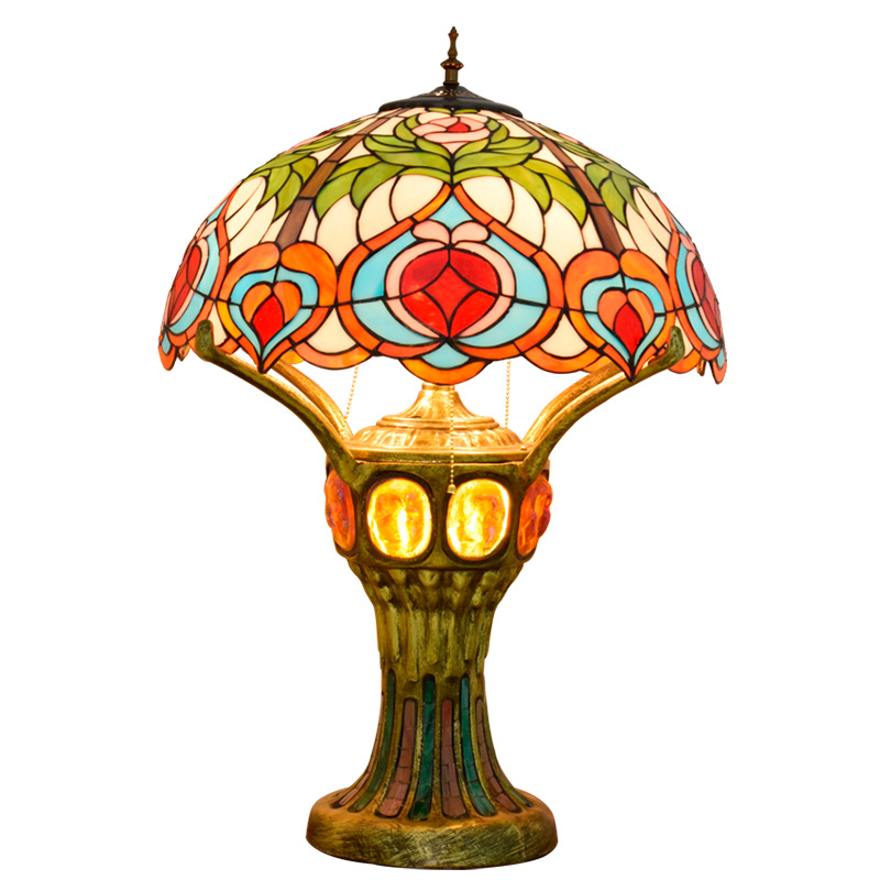 Art Deco LED Tiffany Iron Glass Art Deco LED Lamp.LED Light.Table Light.Table Lamp.Desk Lamp.LED Desk Lamp For Bedroom