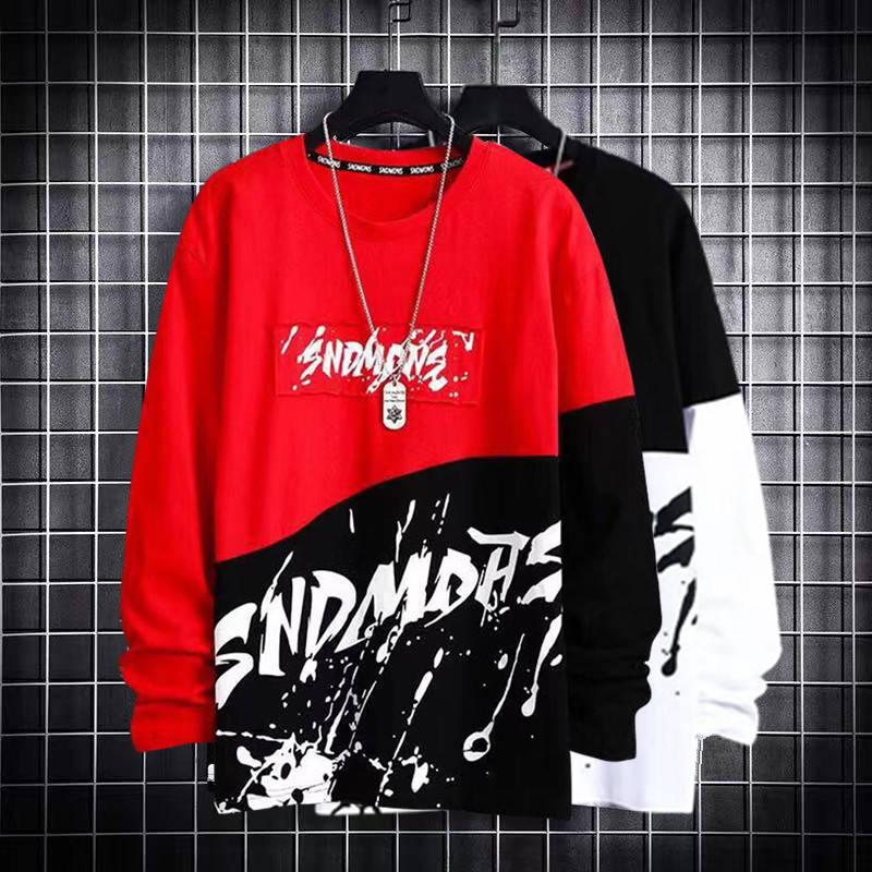 Cool Korean Harajuku Men Swearshirts Hip Hop Oversize Man Hoodies 2020 Warm Black Sweatshirts Casual Patchwork Harajuku Hoodides