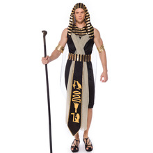 New Arrival Pharaoh Costume Cosplay For Men Ancient Egypt King Suit Adult Halloween Carnival Party Dress Up