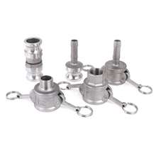 1pc 304 Stainless Steel Homebrew Camlock Fitting Adapter 1/2 MPT FPT Barb Quick Disconnect For Hose Pumps Fittings