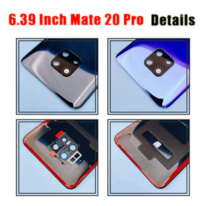 Image 5 - Original for Huawei Mate 20 Battery Cover Mate20 Pro Back Glass Panel For Huawei Mate20 Rear Door Housing Case With Camera Lens