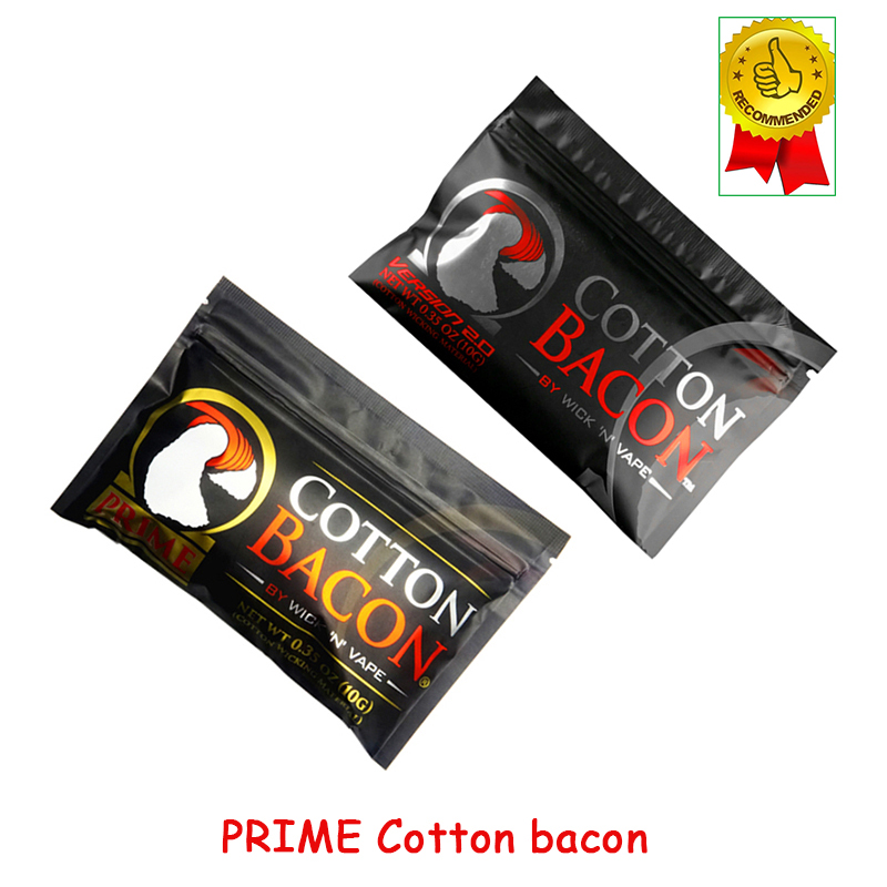 DIY Atomizer Organic Vape Cotton Golden/Silver Version Bacon For RDA RTA RDTA Atomizer Electronic Cigarette Accessories