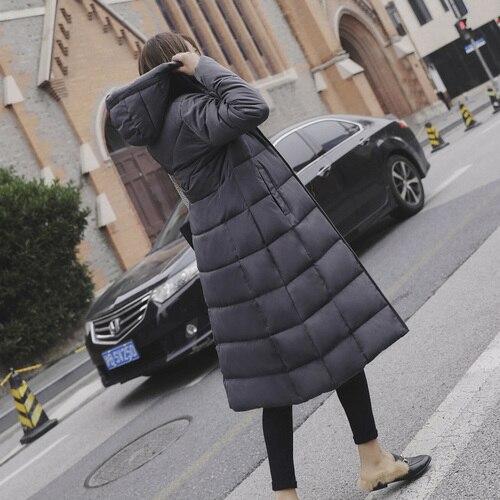 2019 осенние корейские Большие размеры женские макси куртки зимнее пальто куртка красное пальто с капюшоном Женский плюс размер 5xl 6xl Мода 5 цветов