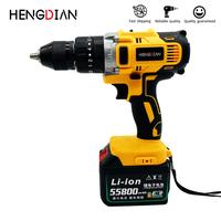 Impact Drill Screwdriver Li ion Battery 3 In 1 Cordless Electric drill 21v 2 Speed Rechargeable 30000mah power tools