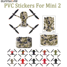 DJI Mini 2 PVC Stickers Waterproof Skin Protective Drone Body Arm Remote Control Protector for DJI Mavic Mini Accessories