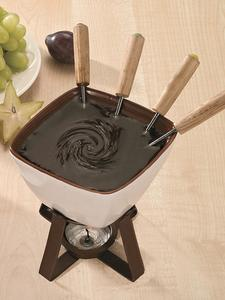 Melting-Pot Forks Candle-Stove Fondue MELTER Butter Chocolate Ceramic Cheese-Candy Hotpot